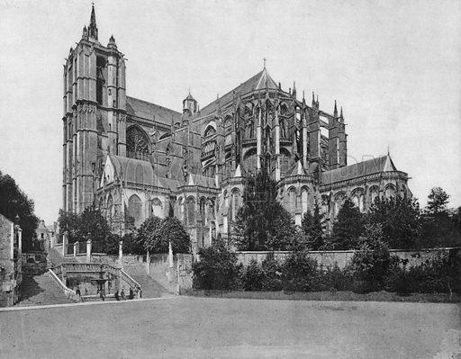 Le Mans - La Cathedrale. Photograph for Le Panorama Merveilles de France (De Neurdein, c 1895).