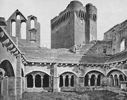 Environs D'Arles - L'Abbaye de Montmajour. Photograph for Le Panorama Merveilles de France (De Neurdein, c 1895).