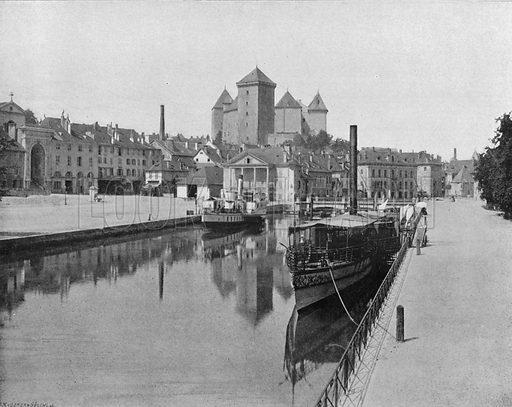 Annecy – Le Port. Photograph for Le Panorama Merveilles de France (De Neurdein, c 1895).