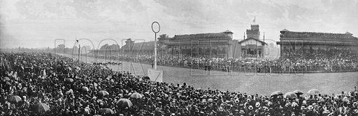 Paris – La Journee du Grand Prix a Longchamps. Photograph for Le Panorama Merveilles de France (De Neurdein, c 1895).