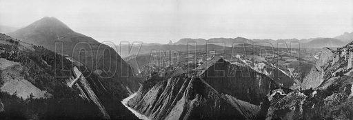 La Vallee de Drac. Photograph for Le Panorama Merveilles de France (De Neurdein, c 1895).