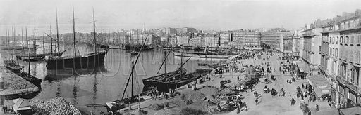 Marseille - Le Vieux Port et le Quai de la Fraternite. Photograph for Le Panorama Merveilles de France (De Neurdein, c 1895).