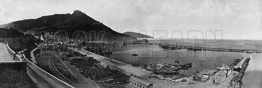 Algerie – Oran – Le Port. Photograph for Le Panorama Merveilles de France (De Neurdein, c 1895).