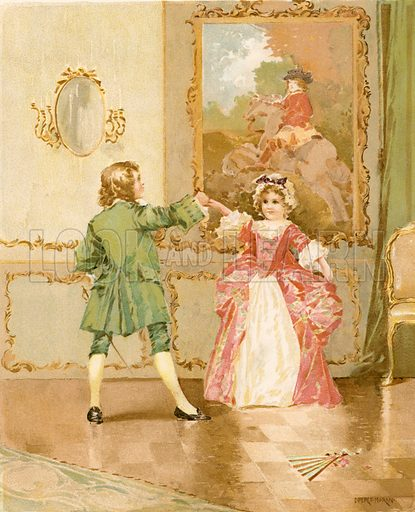 The Minuet. Illustration for Children of Colonial Days (Frederick A Stokes, 1894).