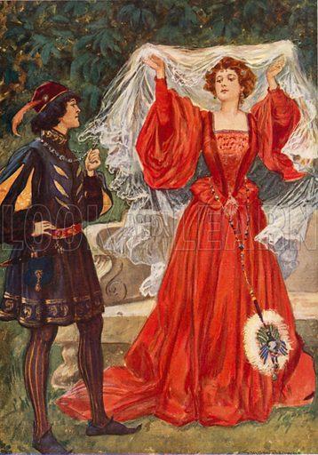Viola and Olivia. Illustration for Children's Stories from Shakespeare by E Nesbit (Raphael Tuck, c 1900).