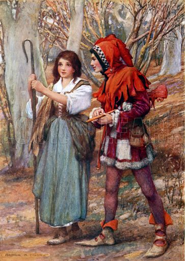 Touchstone and Audrey. Illustration for Children