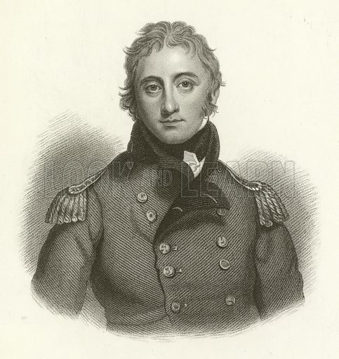 Sir John Moore, engraved by S. Freeman from a painting by Sir Tho Laurence. Illustration for A History of the Highlands by James Browne (Fullarton, 1849-50).