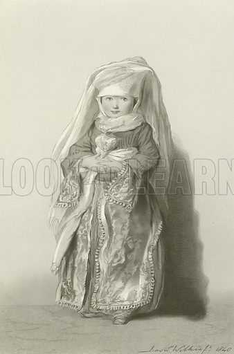 The Daughter of Admiral Walker. From The Wilkie Gallery (Virtue, c 1870).