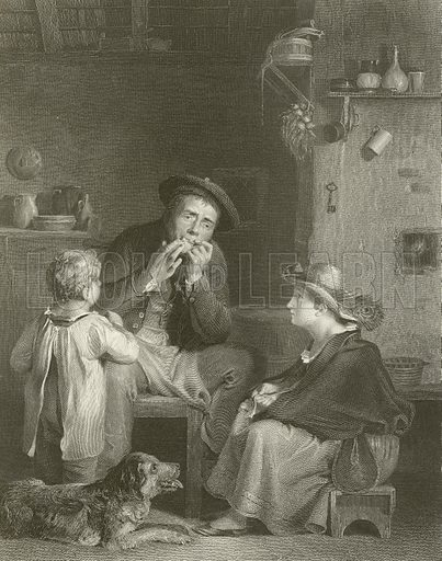 The Jews Harp. From The Wilkie Gallery (Virtue, c 1870).