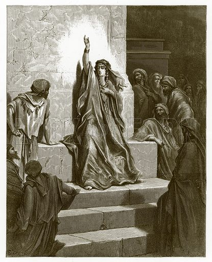 Deborah. Engraving from The Dore Gallery (Cassell, c 1890).