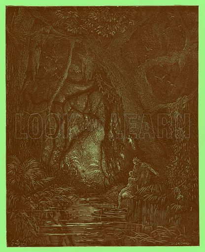 The Deep Mid-Forest. Engraving from The Dore Gallery (Cassell, c 1890).