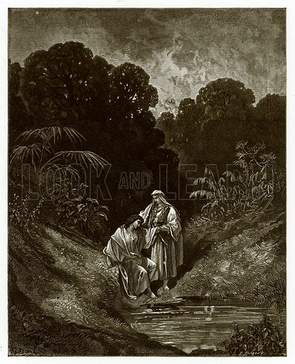 David and Jonathan. Engraving from The Dore Gallery (Cassell, c 1890).