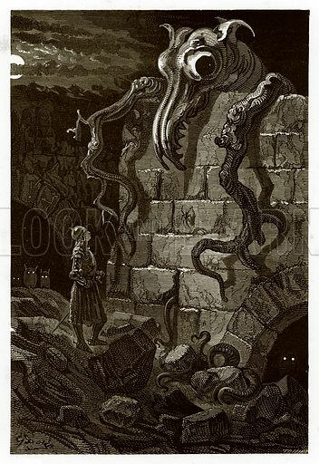 The Gnarled Monster. Engraving from The Dore Gallery (Cassell, c 1890).