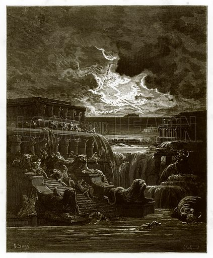 The Rising of the Waters. Engraving from The Dore Gallery (Cassell, c 1890).
