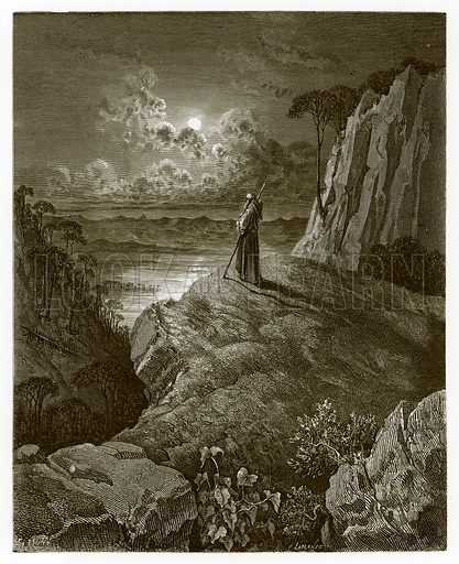 The Hermit on the Mountain. Engraving from The Dore Gallery (Cassell, c 1890).