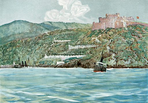 The Entrance to Santiago Harbor, July 7, 1898. Illustration for Harper's Pictorial History of the War with Spain (1899).