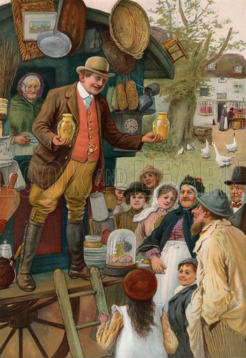 The Cheap-Jack. Illustration for Chatterbox annual (Wells Gardner, early 20th century).