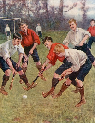 """""""On the Ball!"""" Illustration for Chatterbox annual (Wells Gardner, early 20th century)."""