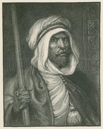 A Moorish Sheik. Illustration for Chatterbox annual (Wells Gardner, early 20th century).