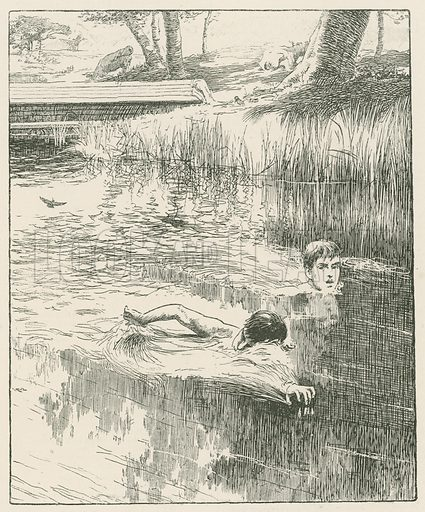 """""""Strinking Out for all he was Worth."""" Illustration for Chatterbox annual (Wells Gardner, early 20th century)."""