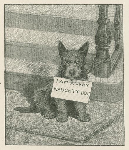 """""""There I had to Sit till Bed-Time."""" Illustration for Chatterbox annual (Wells Gardner, early 20th century)."""