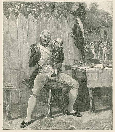 The Veteran at Home. Illustration for Chatterbox annual (Wells Gardner, early 20th century).