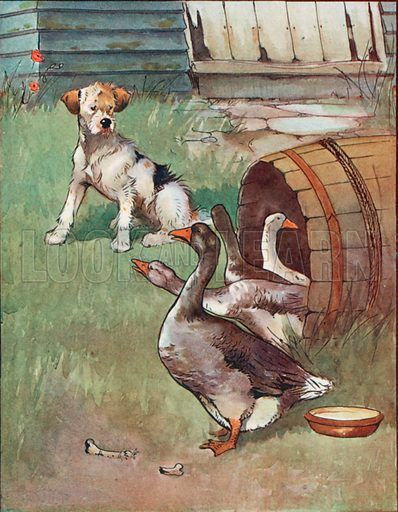 Uninvited Guests. Illustration for Chatterbox annual (Wells Gardner, early 20th century).