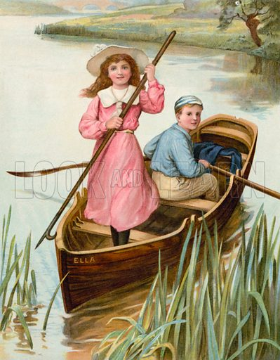 On a Voyage of Discovery. Illustration for Chatterbox annual (Wells Gardner, early 20th century).