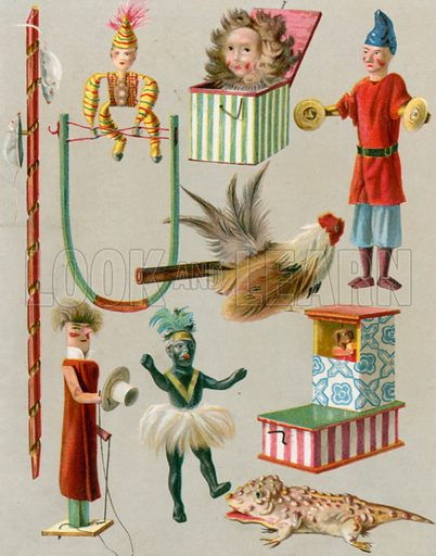 Toys from the Streets. Illustration for Chatterbox annual (Wells Gardner, early 20th century).