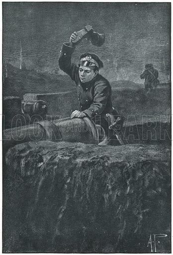 Spiking the Enemy's Guns.  Illustration for The Boy's Own Annual (1897).