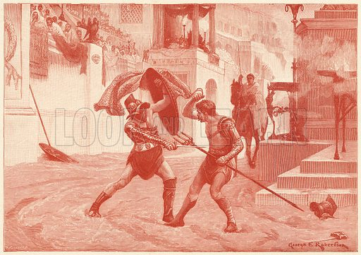 In the Arena.  Illustration for The Boy's Own Annual (1897).