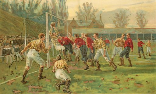 Goal. Illustration for The Boy's Own Annual (1897).