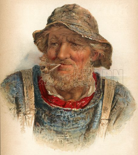 An Old Salt. Illustration for The Boy's Own Annual (1898).