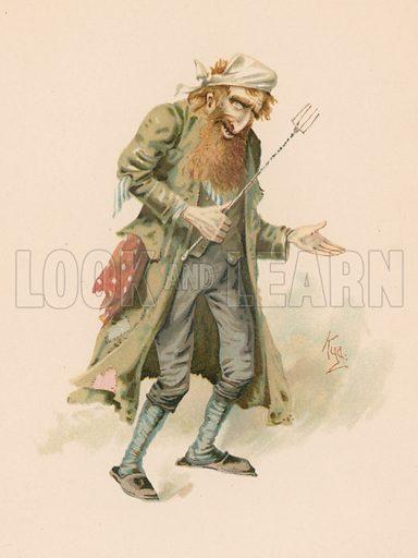 picture, Joseph Clayton Clark, painter, illustrator, artist, Dickens, Fagin