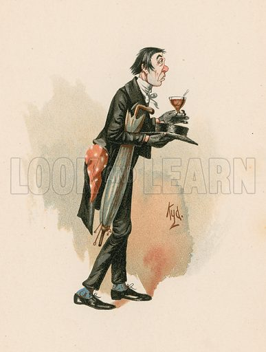Mr Stiggins from Pickwick Papers.  Illustration for The Characters of Charles Dickens (Raphael Tuck, c 1890).