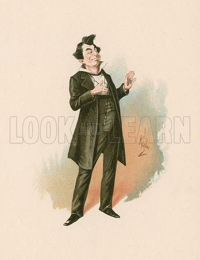 Mr Pecksniff in Martin Chuzzlewit.  Illustration for The Characters of Charles Dickens (Raphael Tuck, c 1890).