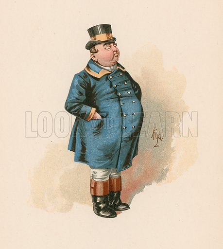 The Fat Boy in Pickwick Papers. Illustration for The Characters of Charles Dickens (Raphael Tuck, c 1890).