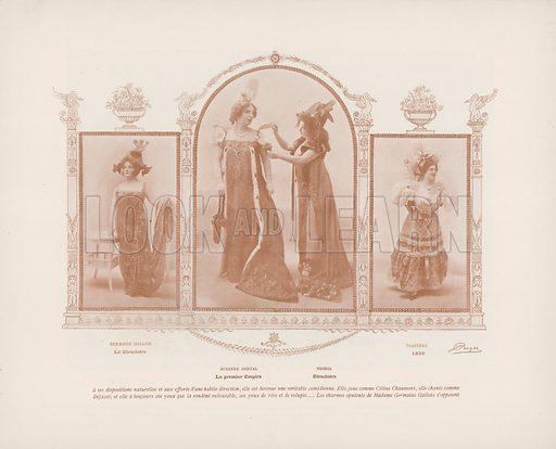Illustration for Le Panorama Paris La Nuit. No 1, Les Coulisses des Varietes (Ludovic Baschet, c 1900).