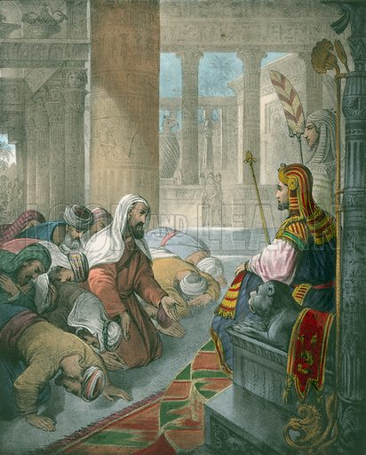 Joseph receiving the Homage of his Brethren. Preceptive Illustrations of the Bible published by Thomas Varty (c 1880).