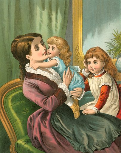 Be Kind to Thy Mother. Illustration for Home Kindness (Thomas Nelson, c 1880).