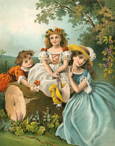 The May Queen. Illustration for Home Kindness (Thomas Nelson, c 1880).