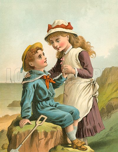 Be Kind to Thy Brother. Illustration for Home Kindness (Thomas Nelson, c 1880).