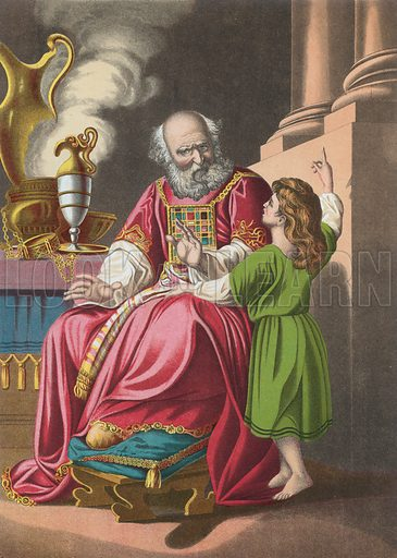 Eli and Samuel. Illustration for The National Comprehensive Bible (W R M'Phun & Son, 1876).