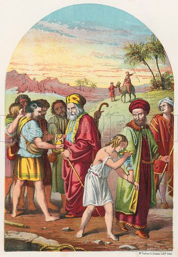 Joseph Sold by his Brothers. Illustration for The National Comprehensive Bible (WRM'Phun & Son, 1876).