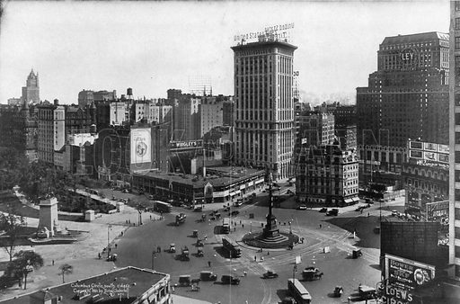 Columbus Circle. Photograph from New York Illustrated (c 1925).