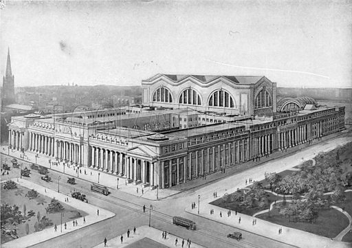 Pennsylvania Railroad Station. Photograph from New York Illustrated (c 1925).