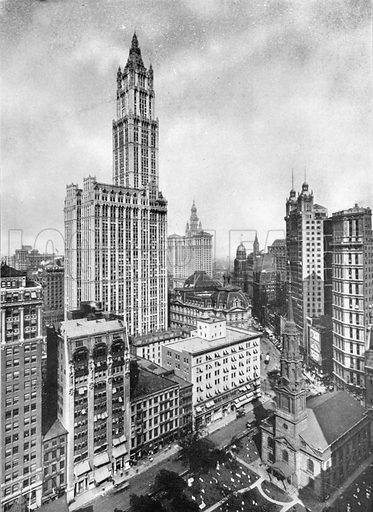 A Typical View of Lower New York. Photograph from New York Illustrated (c 1925).