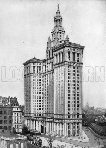 The New Municipal Building. Photograph from New York Illustrated (c 1925).