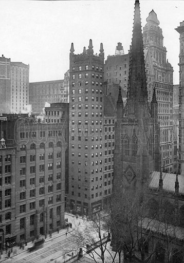One Wall Street. Photograph from New York Illustrated (c 1925).