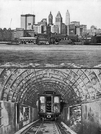 Brooklyn Tunnel. Photograph from New York Illustrated (c 1925).